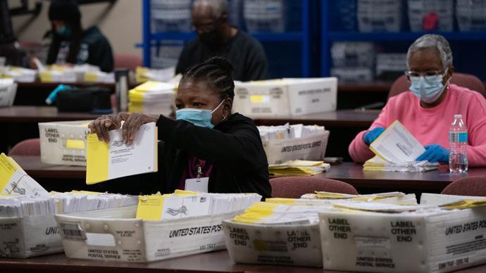 特朗普 拜登 选举人 佐治亚州 领先 大选