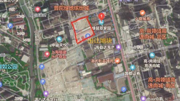 地块 出让 受让人 建筑面积 青浦区 办公
