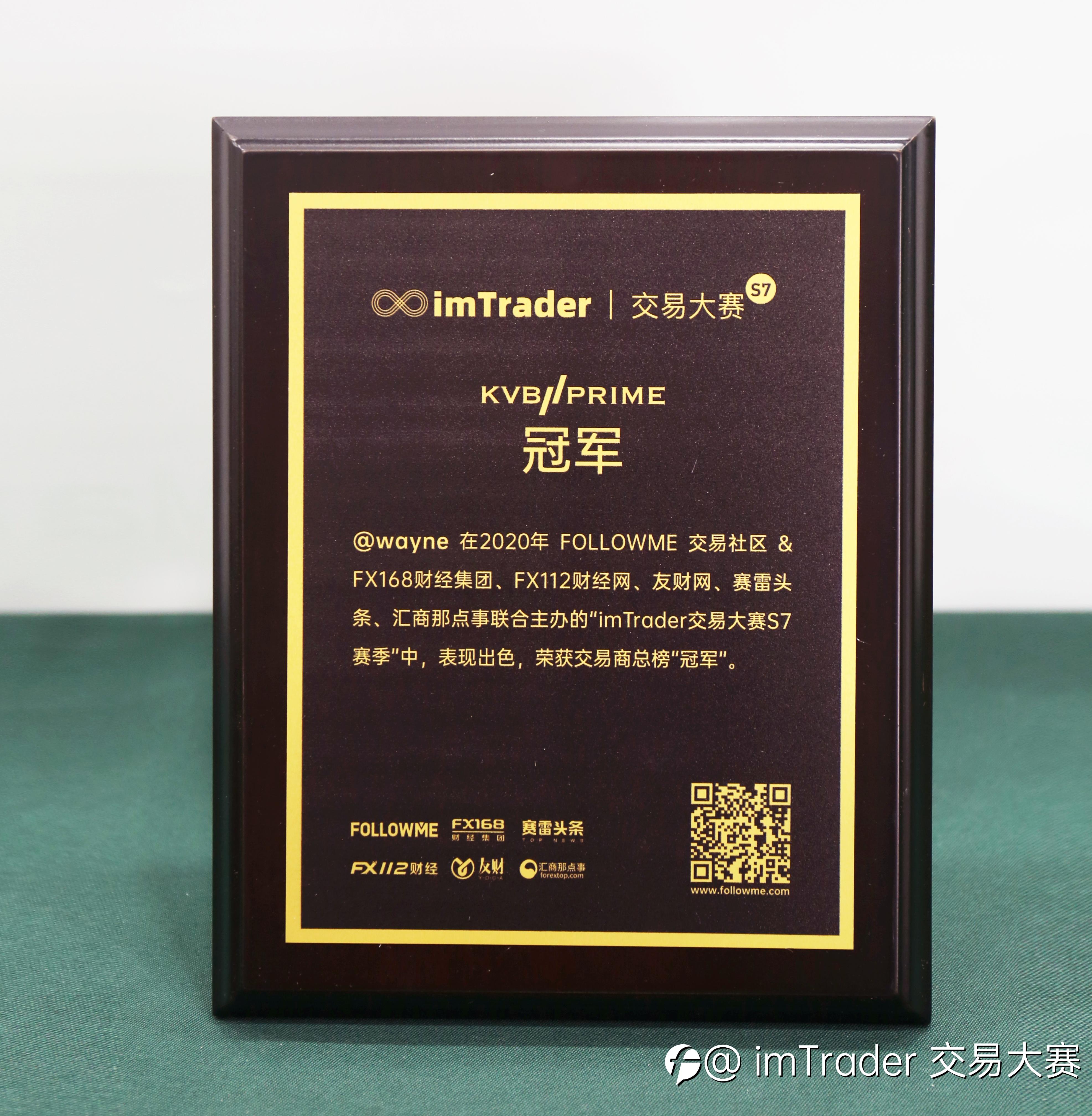 助力大赛圆满结束,KVB PRIME 专注黄金交易员@wayne 夺榜单冠军!